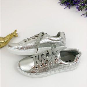 Bella Marie Noah Silver/Metallic Fashion Sneakers